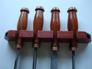 Bloodwood tool rest