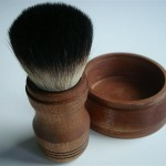 Shaving brush travel set